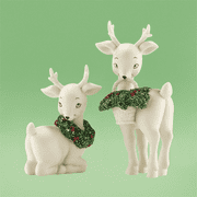Department 56 Snowbabies 4031913  Holly Deer, Set of 2 Retired