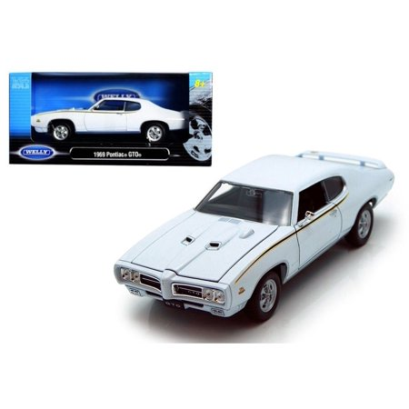 Gtr Diecast Car - WELLY 1:24 W/B 1969 PONTIAC GTO DIECAST CAR MODEL 22501W-WH