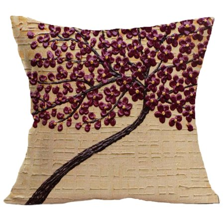 Prime Meigar Non 3D Flower Decorative Throw Pillow Covers Clearance 18X18 Linen Pillow Cases Protector With Zipper For Car Sofa Couch Bed Home Uwap Interior Chair Design Uwaporg
