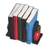 Dollhouse Apple Bookends W/Books