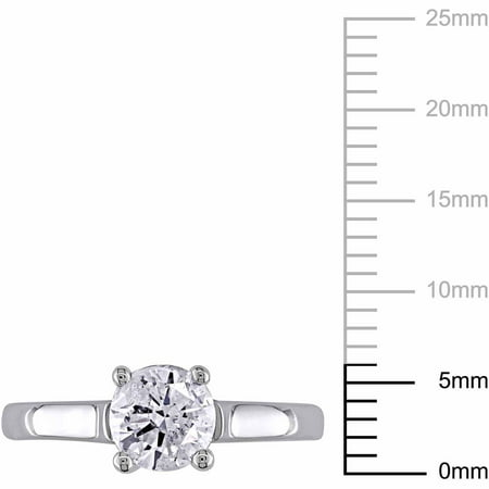 1 Carat Diamond 14kt White Gold Solitaire Engagement Ring