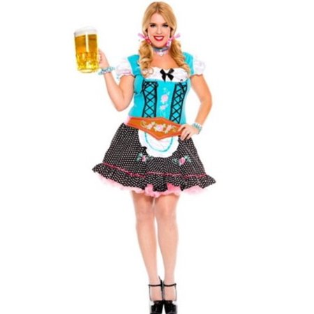 Sky Hosiery Queen Miss Oktoberfest Costume 70544Q Blue
