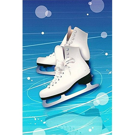 Ice Skates Edible Cake/Cupcake Topper for 1/4 Sheet cake (Halloween Cake With Dry Ice)