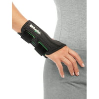 Mueller Green Fitted Wrist Brace, Black, One Size Fits Most, Right Hand
