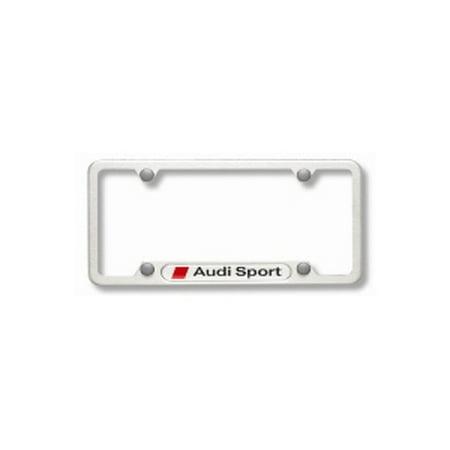 Genuine OE Audi License Plate Frame With Audi Sport Logo