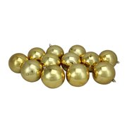 "12ct Vegas Gold Shatterproof Shiny Christmas Ball Ornaments 4"" (100mm)"
