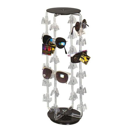 Rotating Eyeglass/Sunglass Display - Holds 24 Pairs - Rotating (Sunglass Stand)