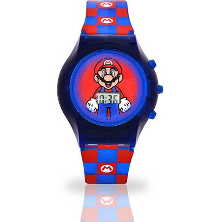 Super Mario Rotating Flash Dial Watch