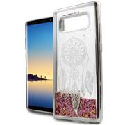 Dreamcatcher Pink Motion Glitter Chrome Case For Samsung Galaxy Note 8 Phone