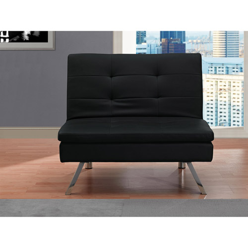 Chelsea Faux Leather Chair, Black