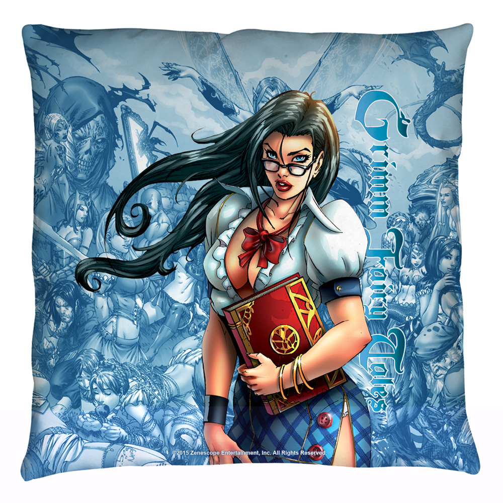 Zenescope Grimmoire Throw Pillow White 26X26