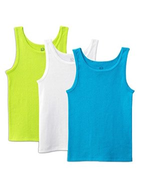 Toddler Girls` 3 Pack Wardrobe Tank, 2T/3T, Assorted