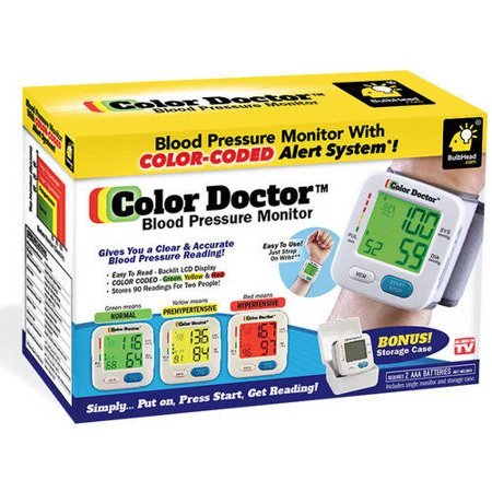 As Seen On Tv Blood Pressure Monitor By Color Doctor