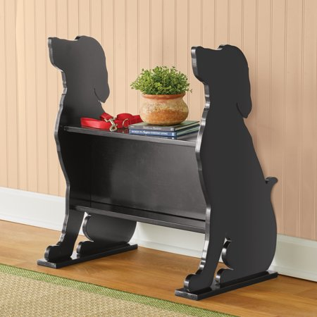 Dog Silhouette Entryway Bench with Storage - Perfect as an Entryway Bench or a Bookshelf in Living Room - Gift Ideas for Dog Lovers ()