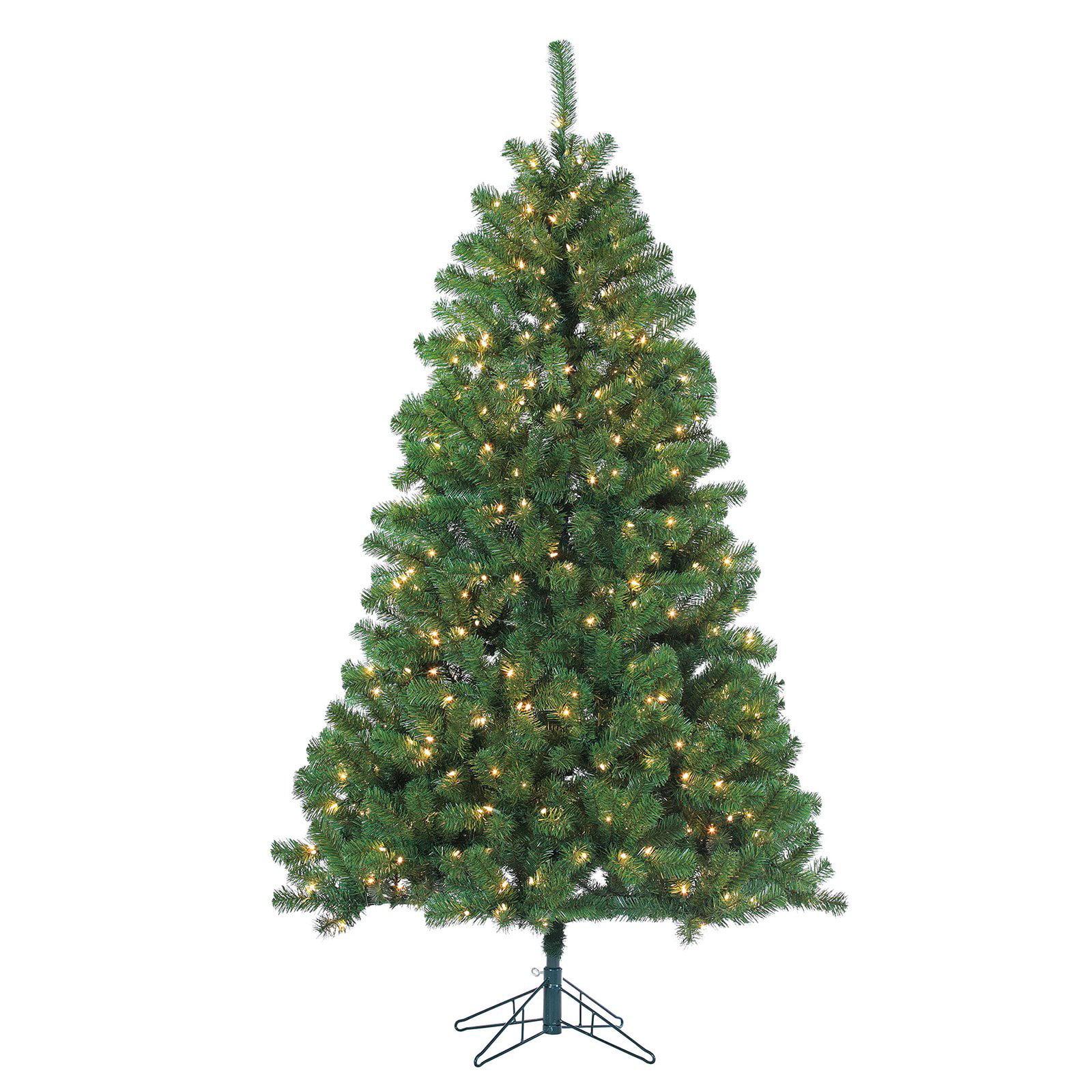 Sterling Tree Company 7 ft. Montana Pine Pre-Lit Full Christmas Tree ...
