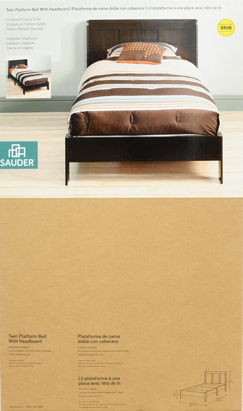 mainstays twin platform bed with headboard cinnamon cherry i