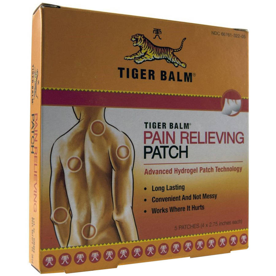 Tiger Balm Pain Relieving Patch, 5 CT
