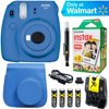 Fujifilm Instax Mini 9 Instant Camera  (Cobalt Blue) + Blue Case + 20 pk Film Kit E15FJFMINI9CB Box Includes: Fujifilm Instax Mini 9 Instant Camera - Cobalt BlueWrist StrapClose Up LensInstruction Manual2 - AA Batteries1-Year Limited WarrantyBundle Includes: Fujifilm Instax Mini 9 Instant Camera - Cobalt BlueCase for Fujifilm Instax Mini 9 Camera with Hand Strap (Blue) Instax Mini Twin Pack Picture Format Instant Daylight Film (20 Shots) 163860164x Rechargeable AA Batteries with ChargerLCD/Lens Cleaning Pen