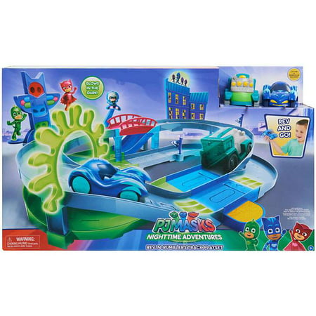 Disney Junior PJ Masks Nighttime Adventures Rev-N-Rumblers Track Playset