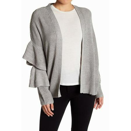 RDI Women's Medium Petite Ruffle Trim Cardigan Sweater