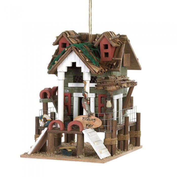Bird Houses, Rustic Wooden Birdhouse Modern Décor Outdoor Castle