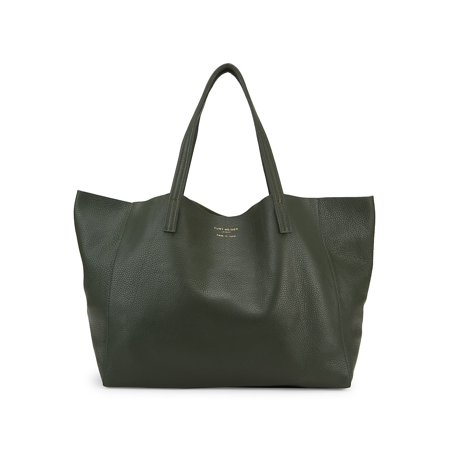 Open Top Leather Tote Open Top Striped Tote