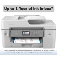 Brother MFC-J6545DW INKvestment Tank Color Inkjet All-in-One Wireless Printer with 11? x 17? Scan Glass and Up to 1-Year of Ink In-box