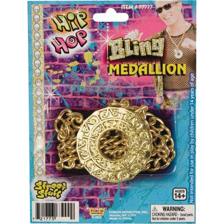 Morris Costumes Medallion Disco Fever Golden Chain One Size, Style FM60393 - Halloween Medallions