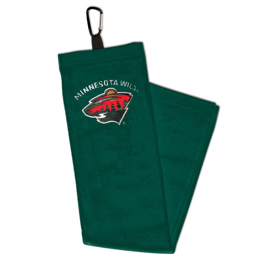 Minnesota Wild WinCraft Embroidered Golf Towel with Carabiner - No Size