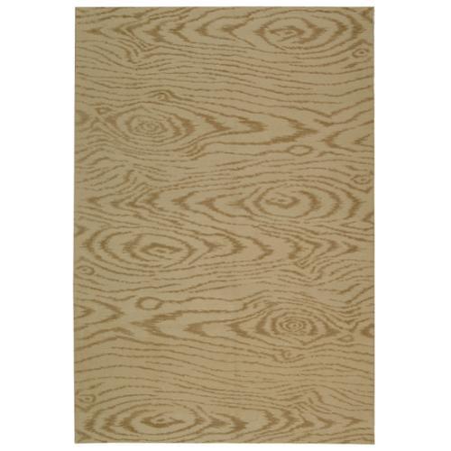 Martha Stewart  by  Faux Bois Driftwood Silk/ Wool Rug (3...