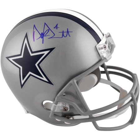 Dak Prescott Dallas Cowboys Autographed Riddell Replica Helmet - Signed in Blue Ink - Fanatics Authentic Certified