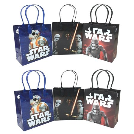 12 PCS Disney Star Wars Authentic Goodie Party Favor Gift Birthday Loot Bags (Star Wars Favor Bags)