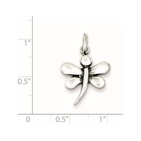 925 Sterling Silver Antiqued Dragonfly (17x20mm) Pendant / Charm - image 1 of 2