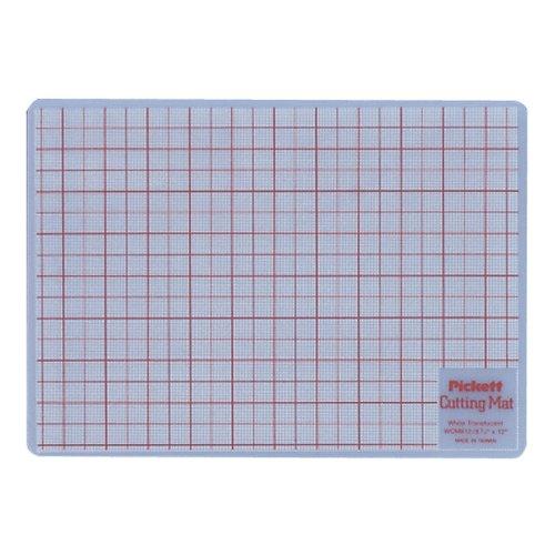 "Chartpak Cutting Mat - Drawing, Writing, Cutting - 8.50"" Length X 12"" Width - Plastic - White (WCM812)"