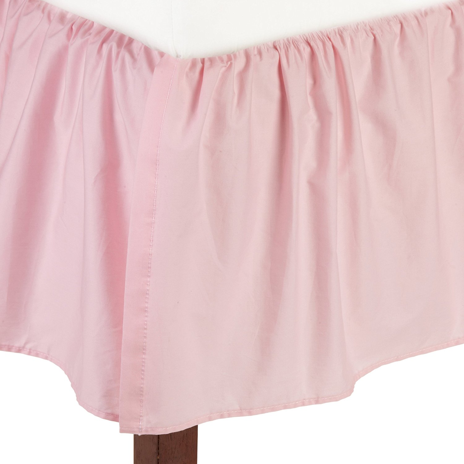 American Baby Company 100 Percent Cotton Percale Dust Ruffle - Pink