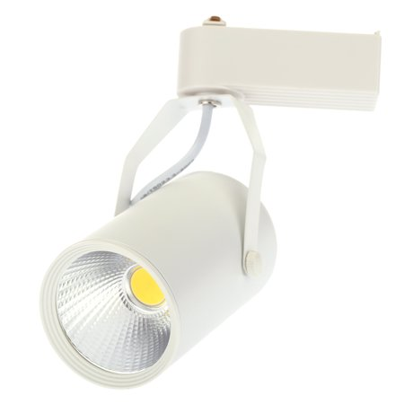 7W AC85-265V 630LM COB Track Rail LED Light Spotlight Lamp Adjustable for Shopping Mall Clothes Store Exhibition Office Use White (Wellington Mall Stores)