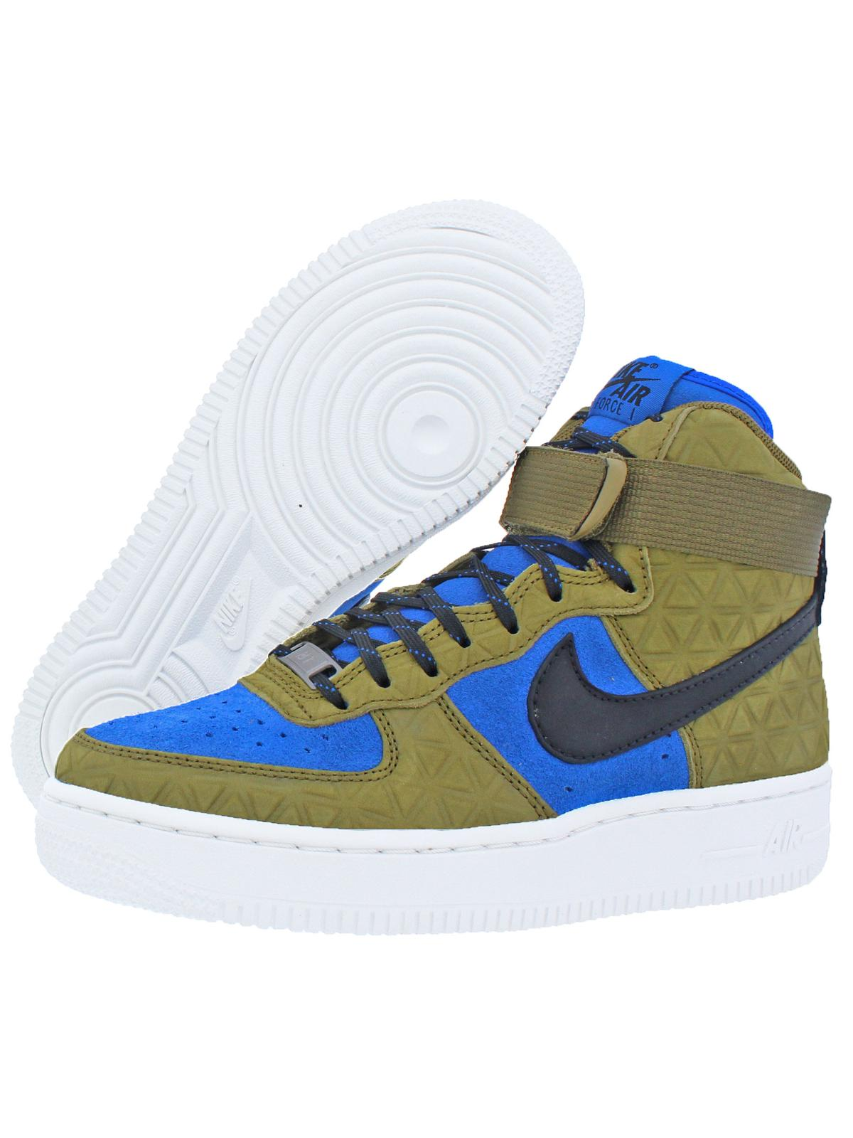 Nike Womens Air Force 1 HI Premium Suede Fashion Sneakers Green 6 Medium (B,M)