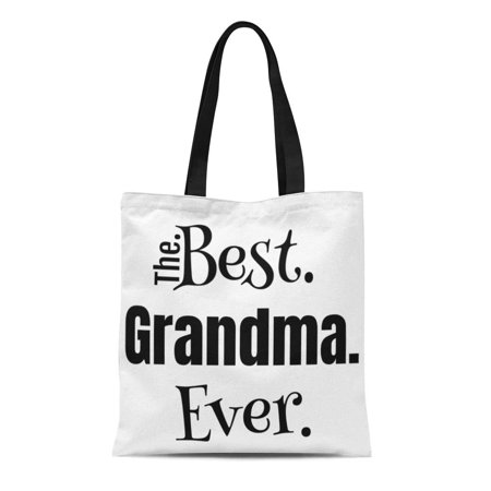 LADDKE Canvas Tote Bag Gigi Granny Nana Best Grandma Ever Text Birthday Reusable Shoulder Grocery Shopping Bags