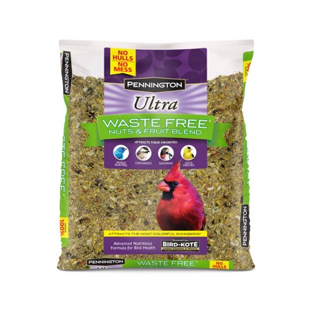Pennington Bird Feed and Seed Nuts & Fruit Blend Waste Free, 2.5 LB (No Mess Bird Seed)