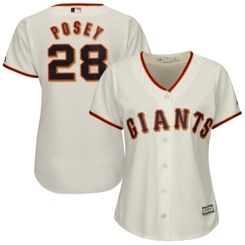 Buster Posey San Francisco Giants Majestic Women's Cool Base Player Jersey Cream by MAJESTIC LSG