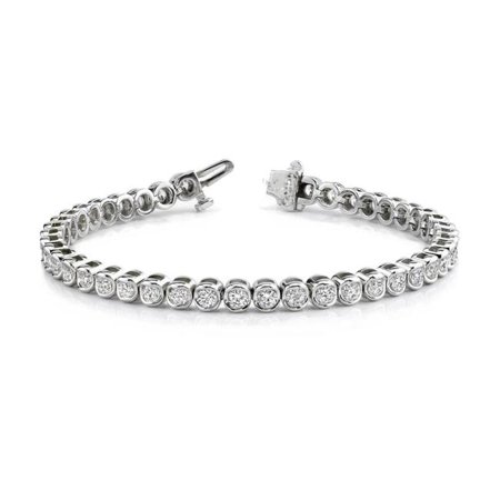 Harry Chad Enterprises 23593 12 CT Round Diamond Women White 14K Solid Gold Tennis Bracelet - image 1 of 1