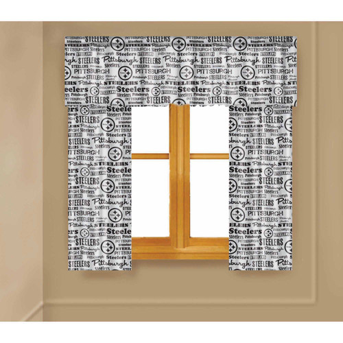 NFL Pittsburgh Steelers Window Curtain Panels