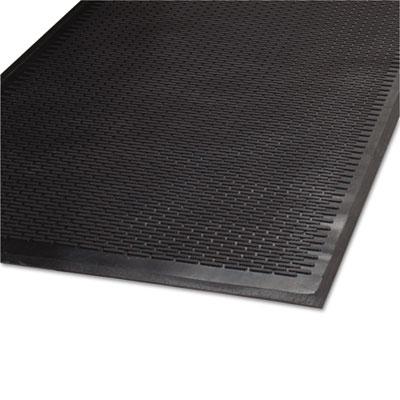 Clean Step Outdoor Rubber Scraper Mat, Polypropylene, 36 x 60, Black, Sold as 1 Each