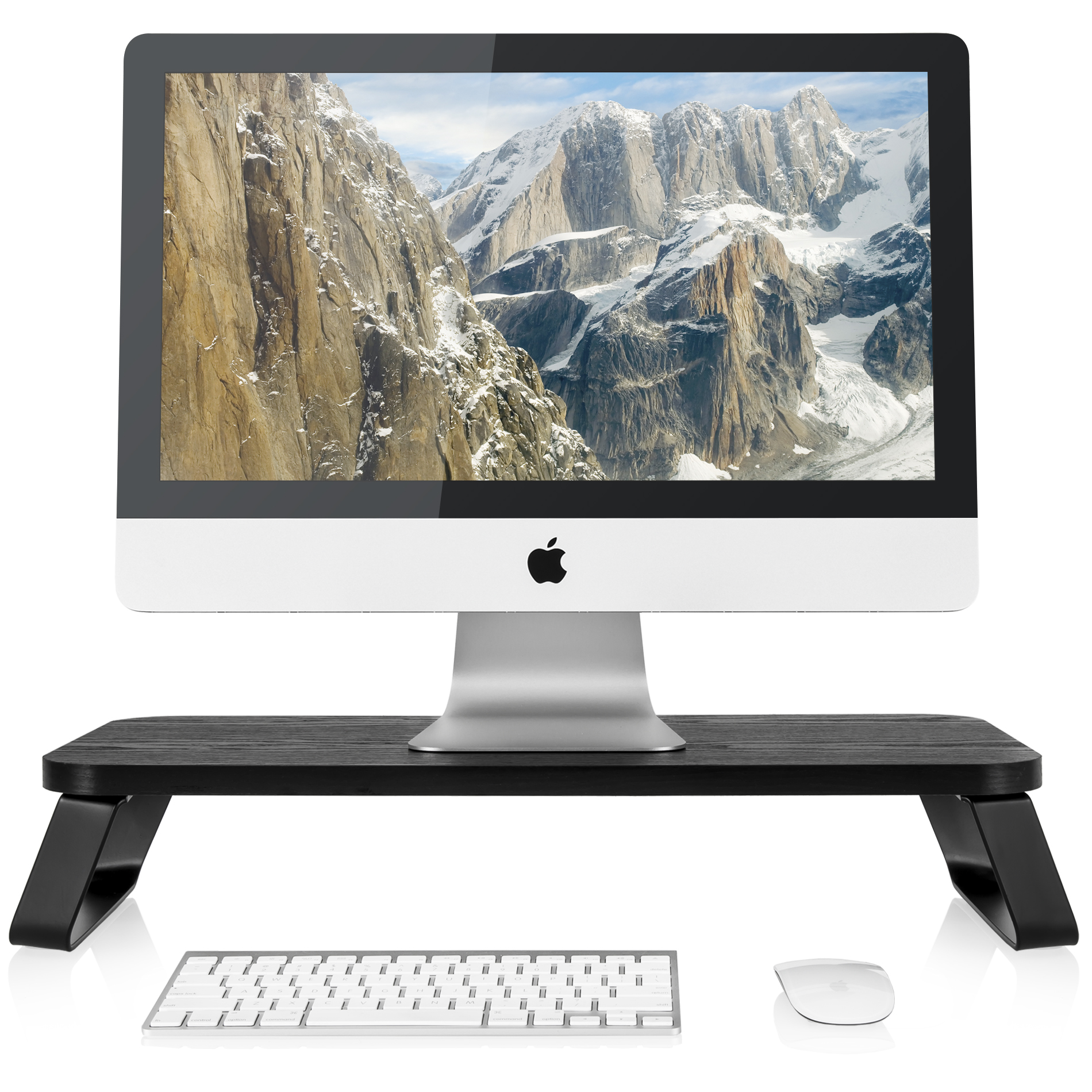 FITUEYES Computer Monitor Riser Stand with keybroad storage space DT106009WB