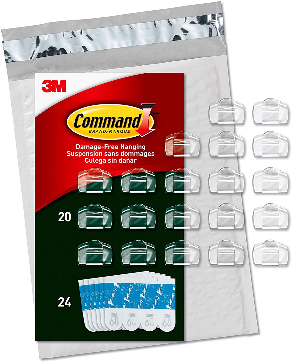 Command Outdoor Light Clips Clear 20 Clips 24 Strips Aw017 20na Walmart Canada