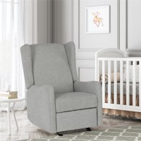 Baby Relax Lois Wingback Rocking Recliner for Nursery, Multiple Colors
