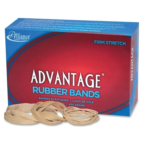 Advantage Rubber Bands Size 54 1LB. Assorted Sizes Natural 26545