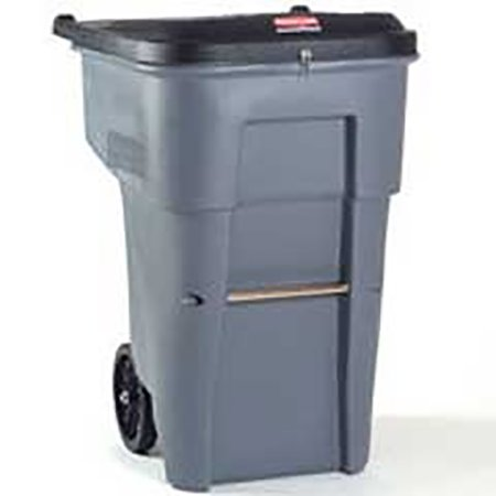 Rubbermaid Commercial 95 Gal Rollout Secure Document Container - gray - RCP9W1188GRA