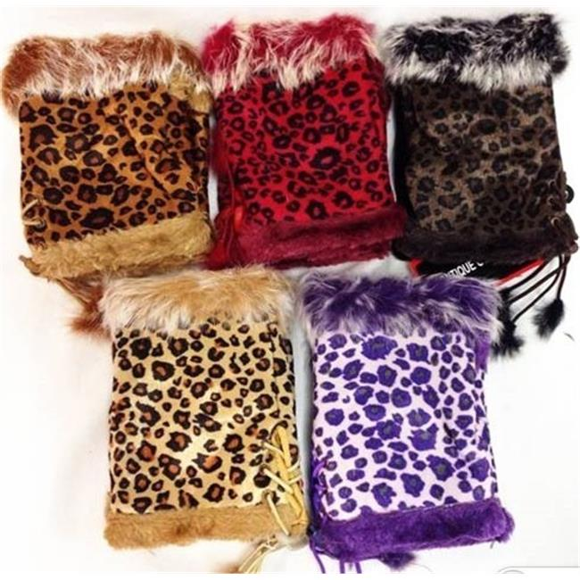 DDI 1489382 Fingerless Leopard Gloves Case Of 24