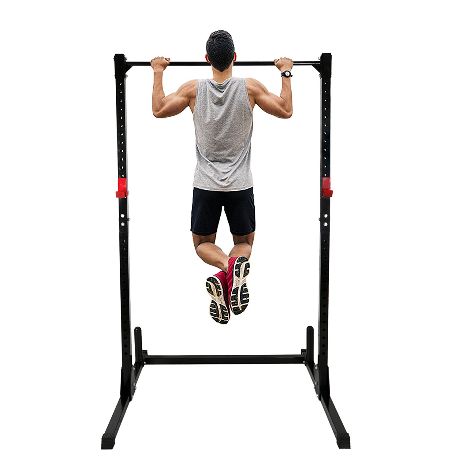 Zeny Power Lifting Rack Squat Bench Strength Deadlift Curl Pull Up Weight Stand Home